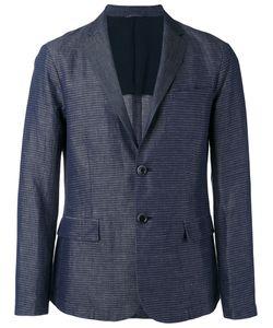 Emporio Armani | Striped Chambray Blazer Size Xl