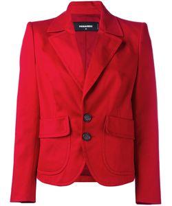 Dsquared2 | Cropped Peaked Lapel Blazer 42 Cotton/Spandex/Elastane/Polyester/Viscose