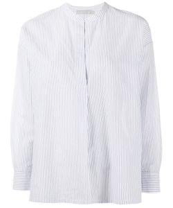 Vince | Striped Split Neck Blouse Size Xs