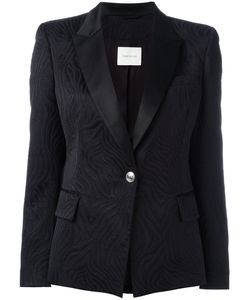 Pierre Balmain | One Button Blazer 40 Cotton/Polyester/Rayon/Satin