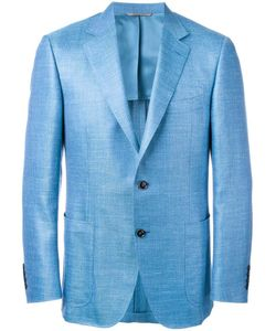 Canali | Patch Pockets Blazer 56 Silk/Linen/Flax/Wool/Cupro