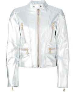 Kenzo | Eye Print Biker Jacket Medium Cotton/Acetate/Leather