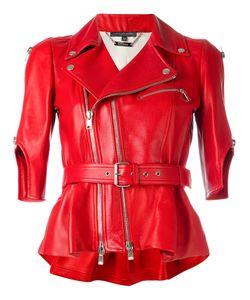 Alexander McQueen | Belted Biker Jacket 42 Lamb Skin/Silk