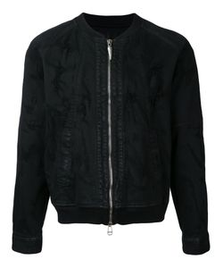 Fagassent | Distressed Effect Bomber Jacket