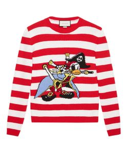 Gucci   Intarsia Sweater With Donald Duck Pirate