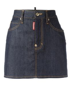 Dsquared2 | Classic Denim Skirt 38 Cotton/Spandex/Elastane/Polyester