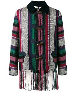 Sacai | Mexican Stripe Fringe Jacket Size