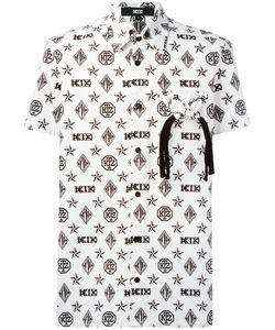 Ktz | Monogram Shortsleeved Shirt Large Cotton