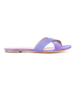 Alexa Wagner | Cross-Over Sandals 37.5 Suede/Leather