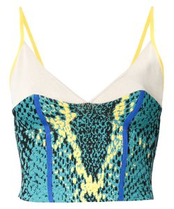 Theatre Products   Snakeskin Print Cropped Top Rayon/Polyester