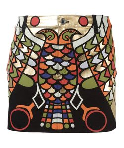 Givenchy   Laminated Printed Skirt 36 Cotton/Spandex/Elastane