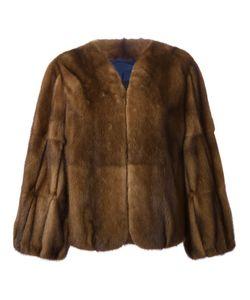 Liska | Меховое Пальто С Пышными Рукавами