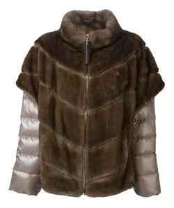 Liska | Меховая Куртка С Дутыми Рукавами