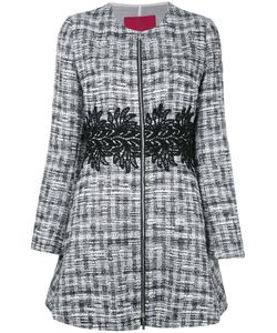 Moncler Gamme Rouge | Zipped Tweed Coat Size Silk/Cotton/Acrylic/Other