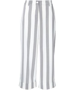Shades Of Grey By Micah Cohen | Striped Cropped Trousers