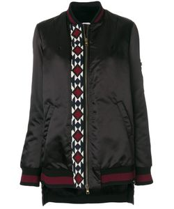 BAZAR DELUXE | Embroidered Detail Bomber Jacket Women