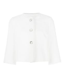 Ermanno Scervino | Three-Quarters Sleeve Boxy Jacket 42 Cotton/Polyester
