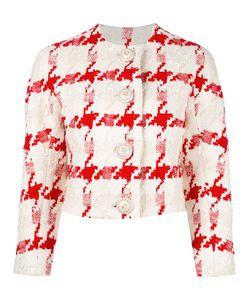 Alexander McQueen | Houndstooth Cropped Jacket 40 Cotton/Silk/Linen/Flax/Silk