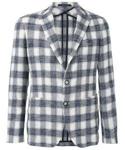 Tagliatore | Woven Checked Blazer Size 48