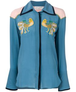 ANTONIA ZANDER | Shirt With Bird Embroidered Patches Women
