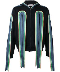 WALTER VAN BEIRENDONCK VINTAGE | Walter Van Beirendonck Ribbon Applique Zipped Hoodie Size Large