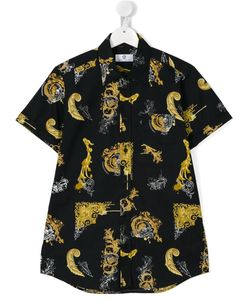 Young Versace | Baroque Print Shirt 14 Yrs
