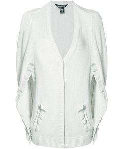 Thomas Wylde | Bridget Slit Sleeve Cardigan Medium Silk/Cotton/Viscose