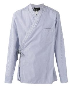 3.1 Phillip Lim | Pinstripe Wrap Shirt Size Medium