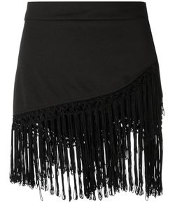 AMIR SLAMA | Fringed Skirt P Cotton