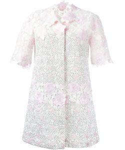 Giambattista Valli | Roses Motif Midi Coat 44 Cotton/Polyamide/Polyester/Silk