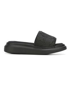 Alexander McQueen | Skull Embossed Sliders 42 Rubber/Nylon