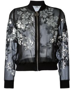 Gcds | Sequinned Flower Bomber Jacket