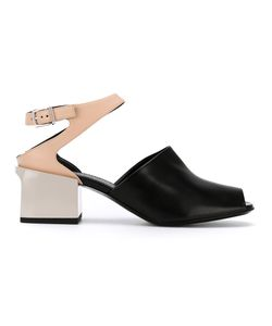 Jil Sander | Contrast Panel Sandals Size 40 Calf Leather/Bos