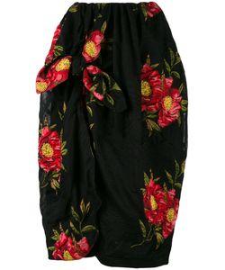 Simone Rocha   Jacquard Draped Skirt Size 6