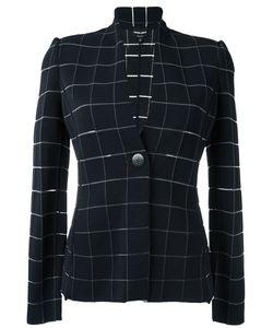 Giorgio Armani | Check Woven Jacket 48 Viscose/Polyamide/Spandex/Elastane/Polyester