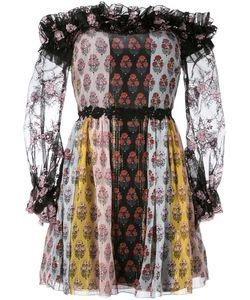 GIAMBA | Printed Off Shoulder Dress Size