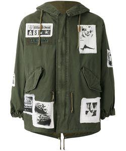 As65   Куртка В Стиле Милитари С Нашивками