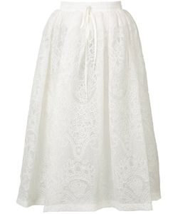 Vera Wang | Full Lace Skirt 0 Silk/Nylon