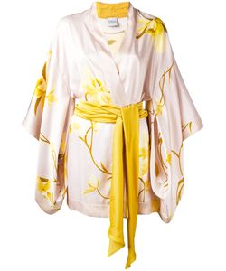 Carine Gilson | Orchidée Print Short Kimono Size Large