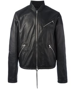 Diesel Black Gold | Zip Up Jacket 48 Lamb Skin/Viscose/Polyester