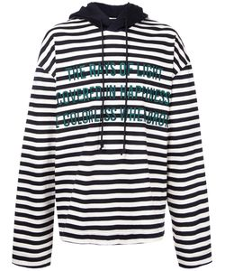 JUUN.J | Striped Text Detail Hoodie