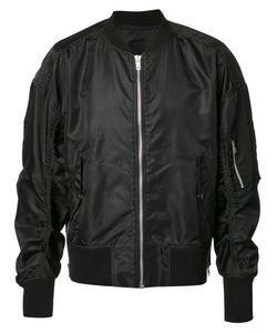 BYUNGMUN SEO | Gathe Sleeves Bomber Jacket Medium Nylon