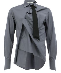 AGANOVICH | Gathered Tie Detail Shirt Men