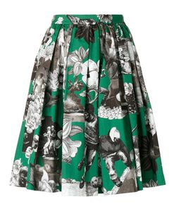 MSGM | Multiple Print Gathe Skirt 40 Cotton