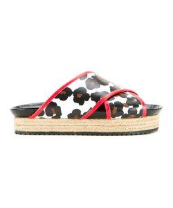 Muveil | Leopard Print Platform Sandals Size 38
