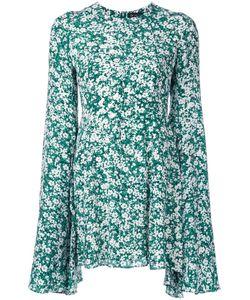 DRESS CAMP | Dresscamp Cape Sleeve Fitted Dress 36 Silk