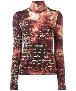 JEAN PAUL GAULTIER VINTAGE   Roll Neck Script Sweater Size