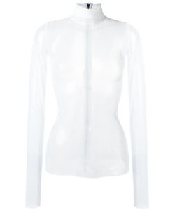 MATICEVSKI | High Neck Sheer Blouse 10 Polyester/Spandex/Elastane