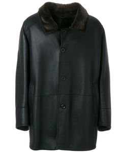 Liska | Long Sleeved Button Up Coat Men Lamb