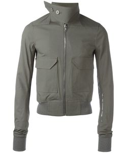 Rick Owens | Buttoned Funnel Neck Bomber Jacket 48